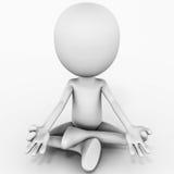 Medita??o da ioga ilustração royalty free