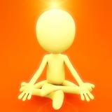 Medita??o espiritual ilustração stock