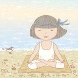meditación stock de ilustración