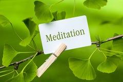 meditación Imágenes de archivo libres de regalías