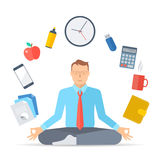 Meditación D del negocio Fotografía de archivo libre de regalías
