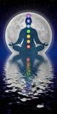 Meditación de Chakra stock de ilustración