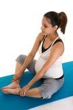 Meditación de la aptitud del embarazo Foto de archivo libre de regalías