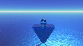 Meditación de la bola ilustración del vector