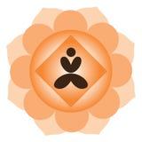 Meditación de la yoga stock de ilustración