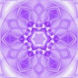 Meditación del caleidoscopio en la mandala floral blanca y ultravioleta de la teja Fotografía de archivo libre de regalías