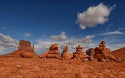 Meditación del desierto Imagenes de archivo