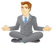 Meditación del negocio Foto de archivo libre de regalías