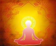 Meditación del Yoga-Loto Imagen de archivo libre de regalías
