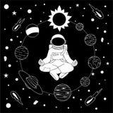 Meditación dentro del círculo de la Sistema Solar libre illustration