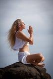Meditación en Hawaii Fotos de archivo