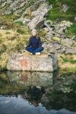 Meditación en la naturaleza Foto de archivo