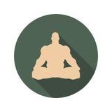 Meditación muscular del hombre Fotografía de archivo libre de regalías