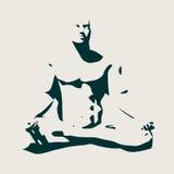 Meditación muscular del hombre Imágenes de archivo libres de regalías