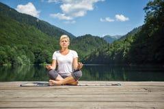 Meditación pacífica foto de archivo libre de regalías