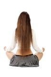 Meditación practicante de la muchacha Fotografía de archivo libre de regalías