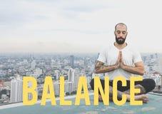 Meditación sana de la vida de la atención sanitaria de la balanza fotos de archivo