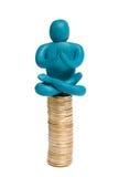 Meditación sobre el dinero imágenes de archivo libres de regalías