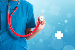 Medital female health care professional nurse or portrait of doc royalty free stock images