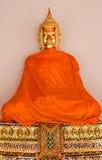 Meditando a estátua da Buda Fotografia de Stock
