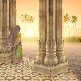 Meditando nel paradiso Immagini Stock