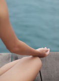 Meditação de assento Fotografia de Stock