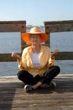 Meditação sênior Fotografia de Stock Royalty Free