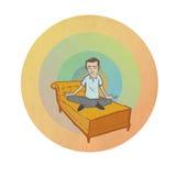 Meditar al hombre Imagen de archivo libre de regalías