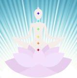 Meditar al ser humano Foto de archivo libre de regalías