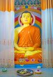 Meditare Buddha nel santuario di Dematamal Fotografia Stock Libera da Diritti