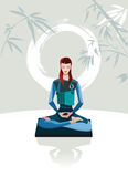 Meditare della donna Fotografia Stock Libera da Diritti