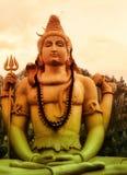 Meditare Lord Shiva Fotografie Stock Libere da Diritti