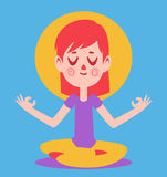 Meditare sveglio della ragazza Immagini Stock Libere da Diritti