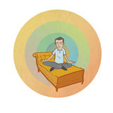 Meditare uomo Immagine Stock Libera da Diritti