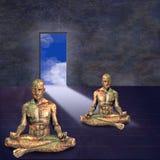 Meditate royalty illustrazione gratis