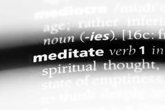 meditate стоковое изображение