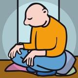 meditate ilustración del vector