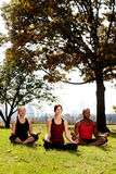 Meditate City Stock Photography