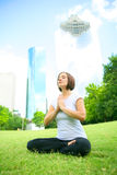 Meditate In Downtown Stock Images