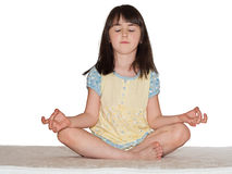 Meditate girl Royalty Free Stock Photography