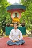 Meditate lady Royalty Free Stock Photos