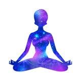 meditatie vector illustratie