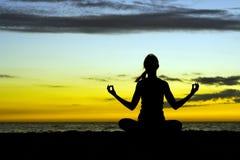 Meditatie. Stock Foto's
