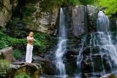 Meditatie in de aard Royalty-vrije Stock Foto