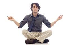 Meditatie de bedrijfs van de Mens stock afbeelding