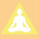 Meditatie in een lichte driehoek Stock Foto