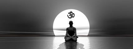 Meditatie en om Stock Afbeelding