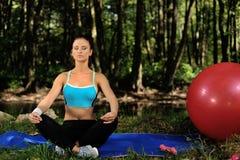 Meditatie en ontspanning Stock Afbeelding