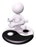 Meditatie en Yin Yang Royalty-vrije Stock Afbeeldingen