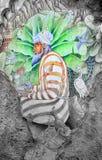 Meditatie in kleur Royalty-vrije Stock Afbeeldingen